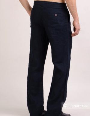 Льняные брюки H&M, размер 33,  размер 48-52