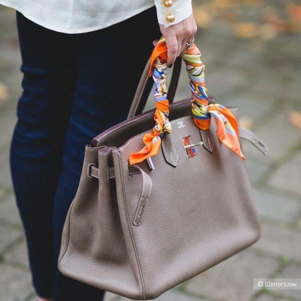 Шелковая повязка-шарфик для сумок, на голову, волосы, шею разноцветная, 4,5 см*100 см.