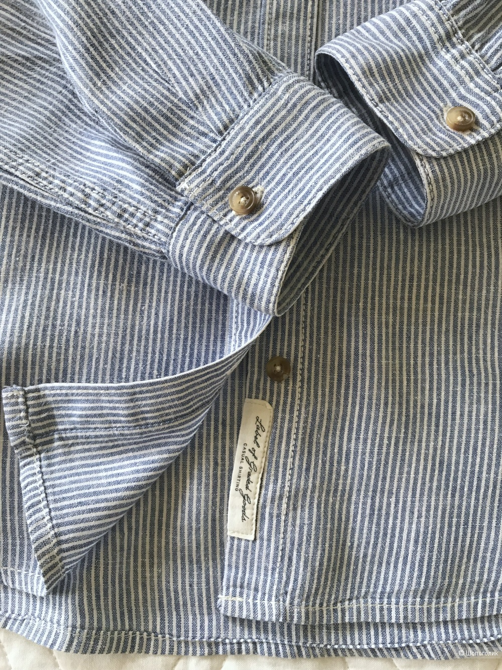 Льняная рубашка H&M размер US 10