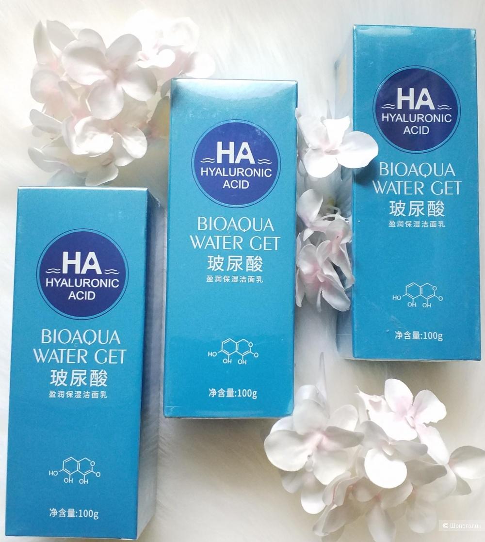 Bioaqua / Очищающая пенка для умывания с гиалуроновой кислотой, 100гр