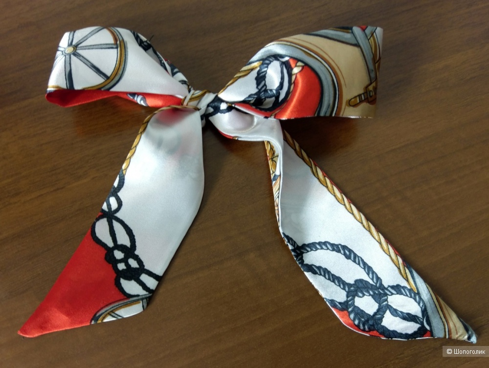 Шелковая повязка-шарфик для сумок, на голову, волосы, шею разноцветная, 4,5 см*87 см.