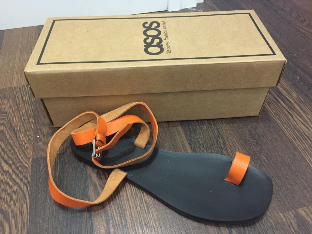 Кожаные сандалии ASOS DESIGN Finer, 38 размер, идет на 37
