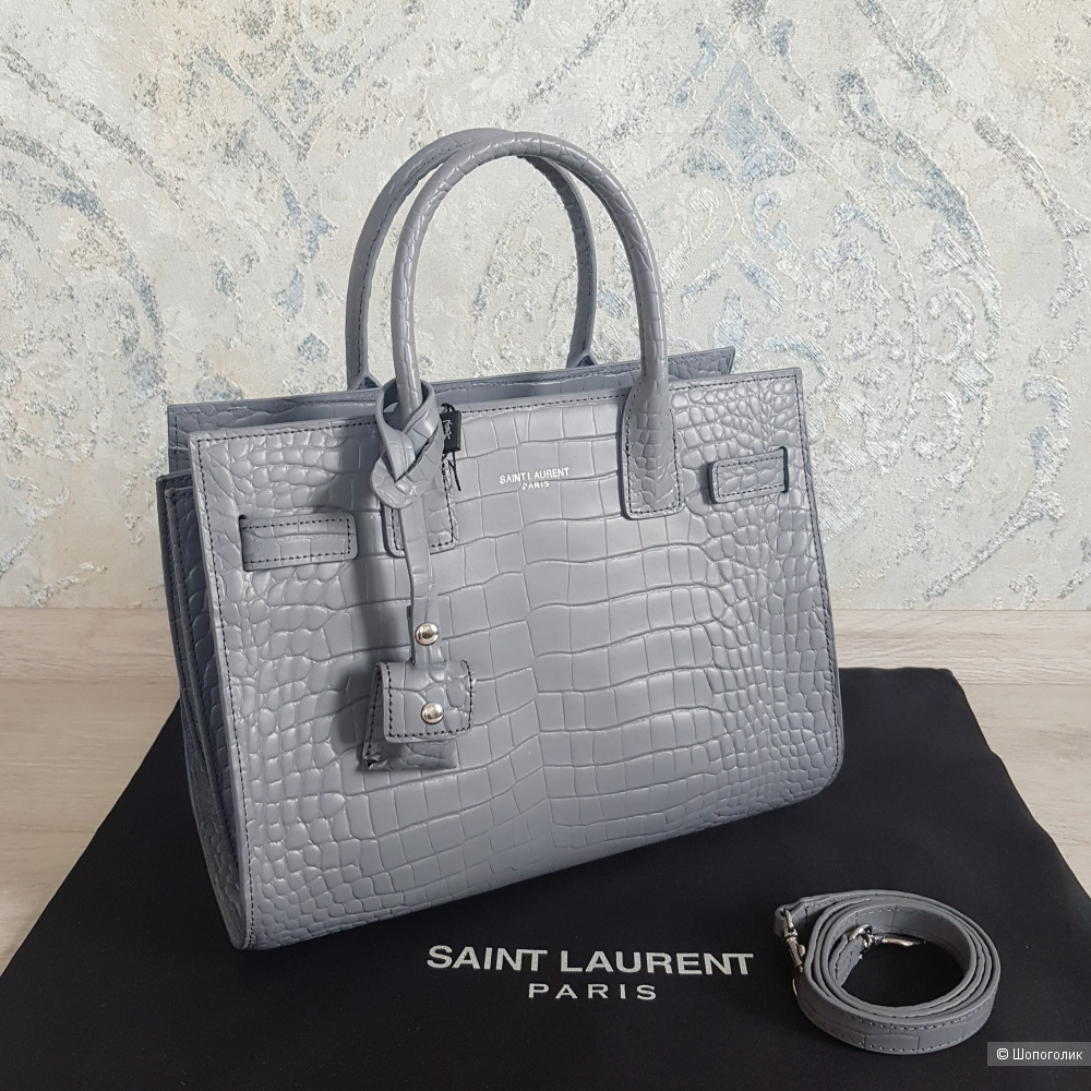 Сумка Saint Laurent Sac De Jour (серая)