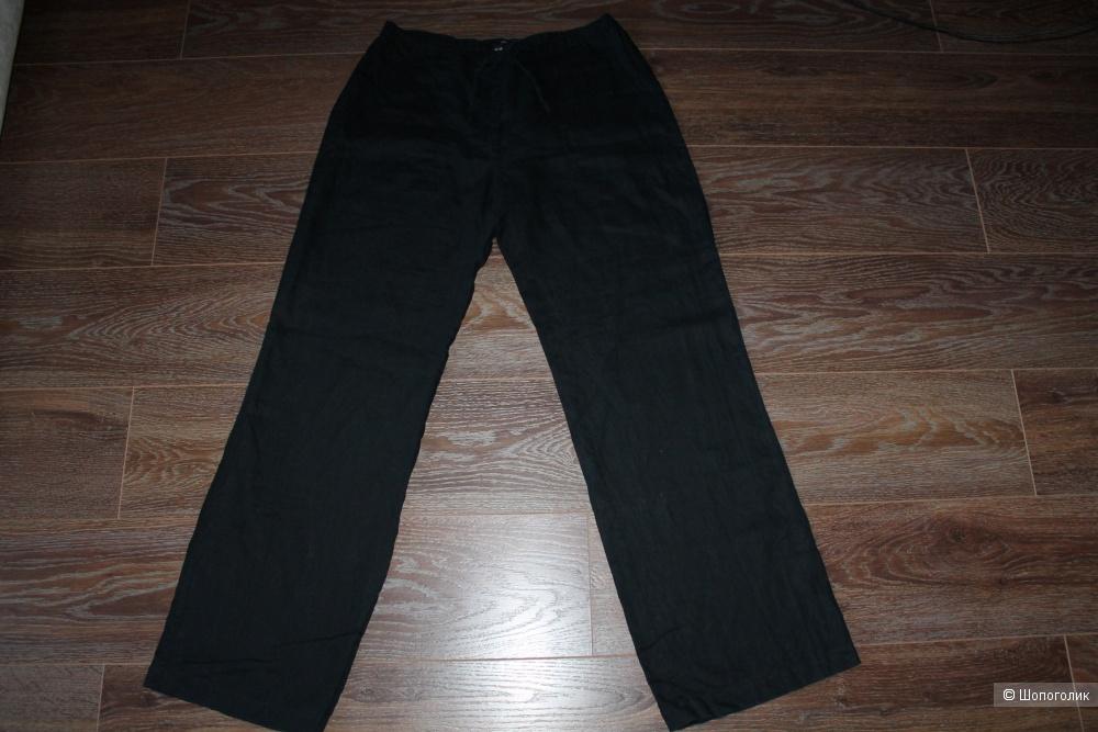 Льняные брюки H&M, размер 44-46, рос. 50-54
