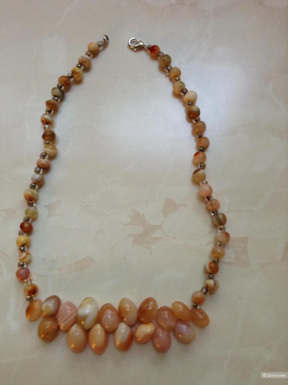 Ожерелье из натурального агата, 41 см