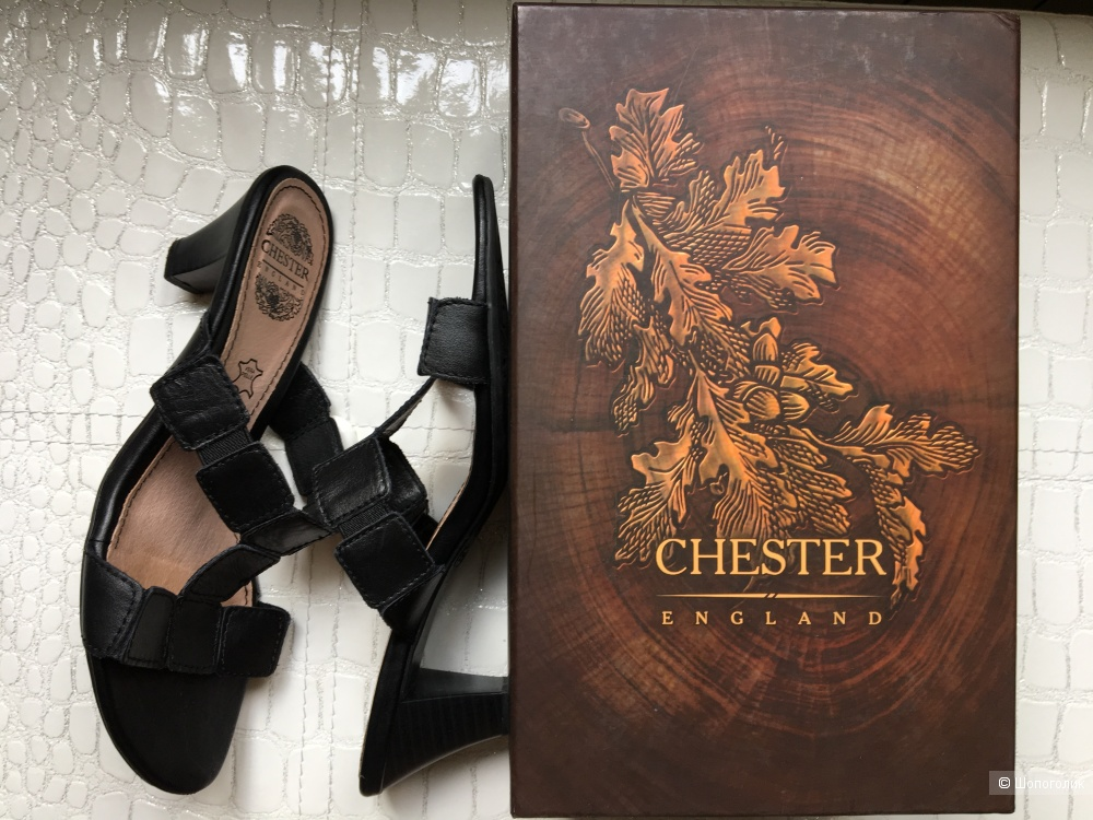 Кожаные босоножки Chester, размер 39