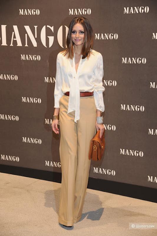 Полушерстяной брючный костюм Mango S
