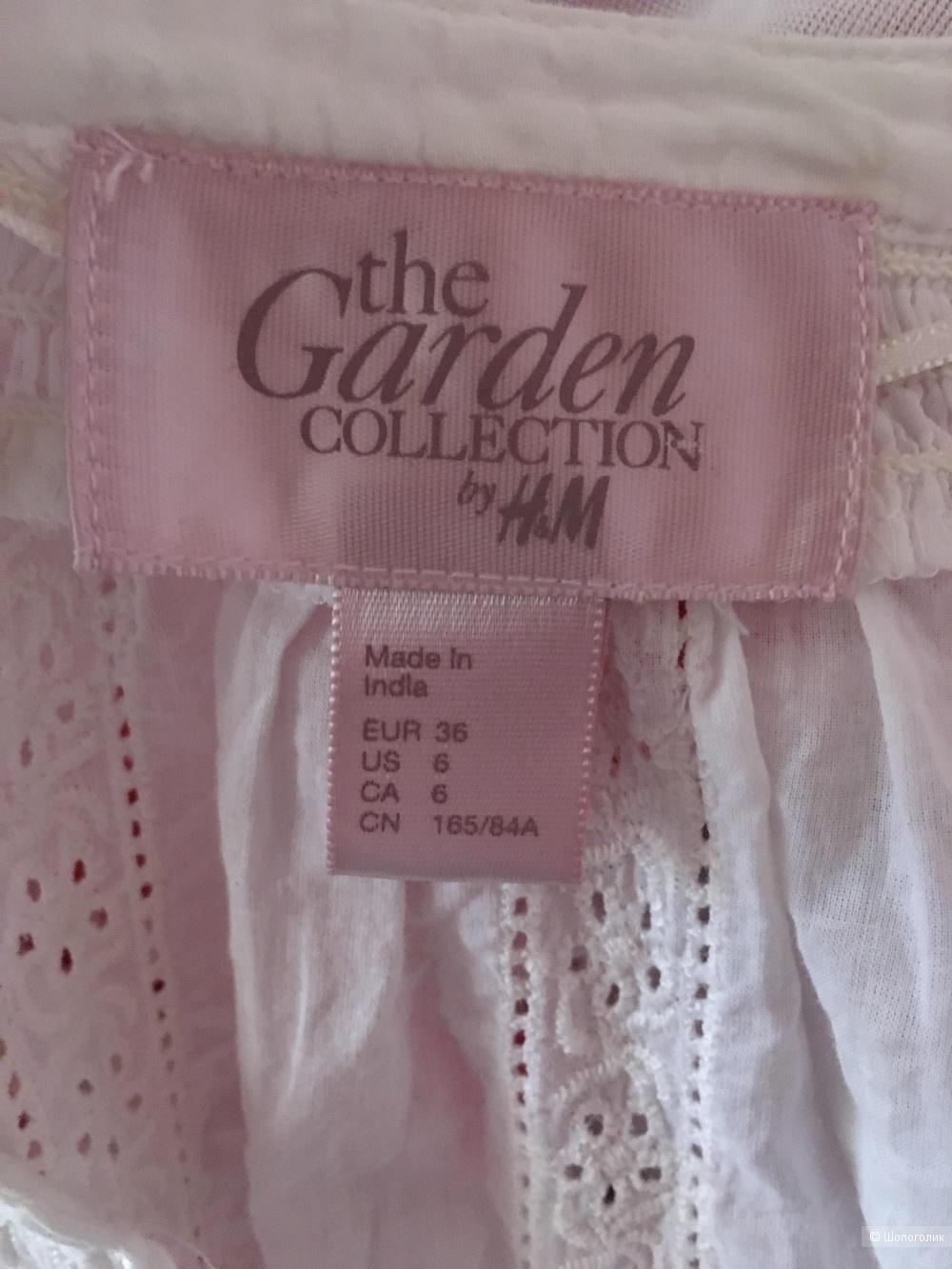 Туника из хлопкового шитья Garden by H&M, размер М