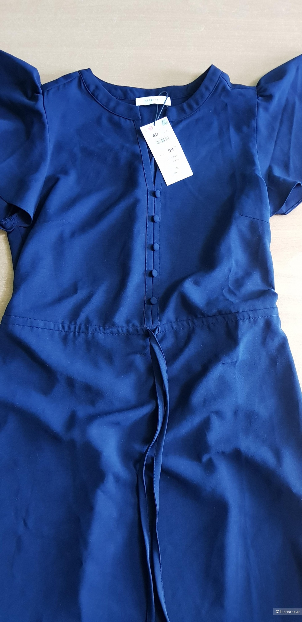 Мини-платье с завязкой Reserved размер М