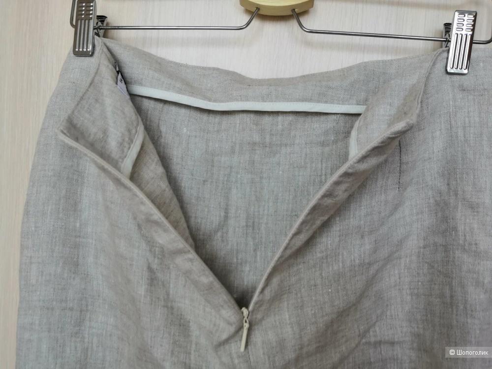 Льняная юбка с запахом Mango UK10 / EUR 38 (44-46 росс)