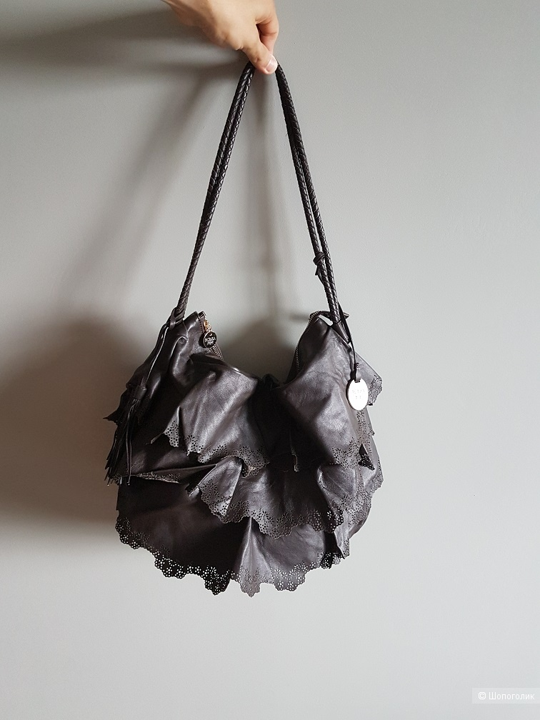 Кожаная сумка Patrizia Pepe