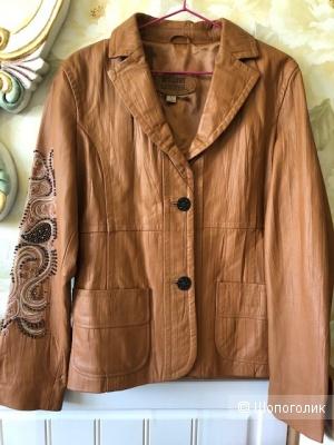 Пиджак( Куртка) кожаная с вышивко бисером  WILSONS LEATHER, L