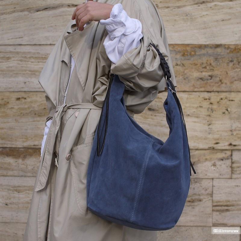 Кожаная (нубук) сумка LIRICA от Carla Moretti