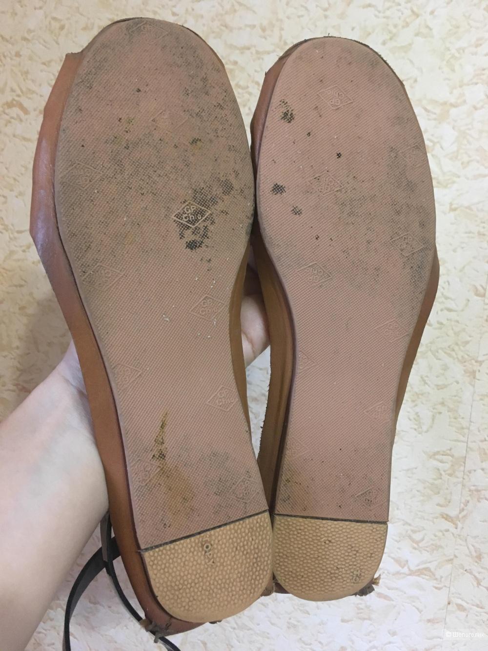 Кожаные сандалии босоножки BL, 38,5