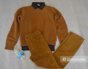 Комплект для мальчика:свитер+джинсы+рубашка, фирмы t-a-o, рост 146-152 см