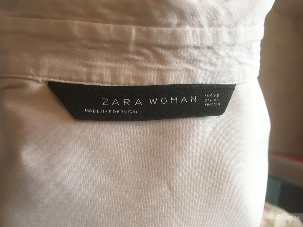 Рубашка белая Zara 42-44 RU