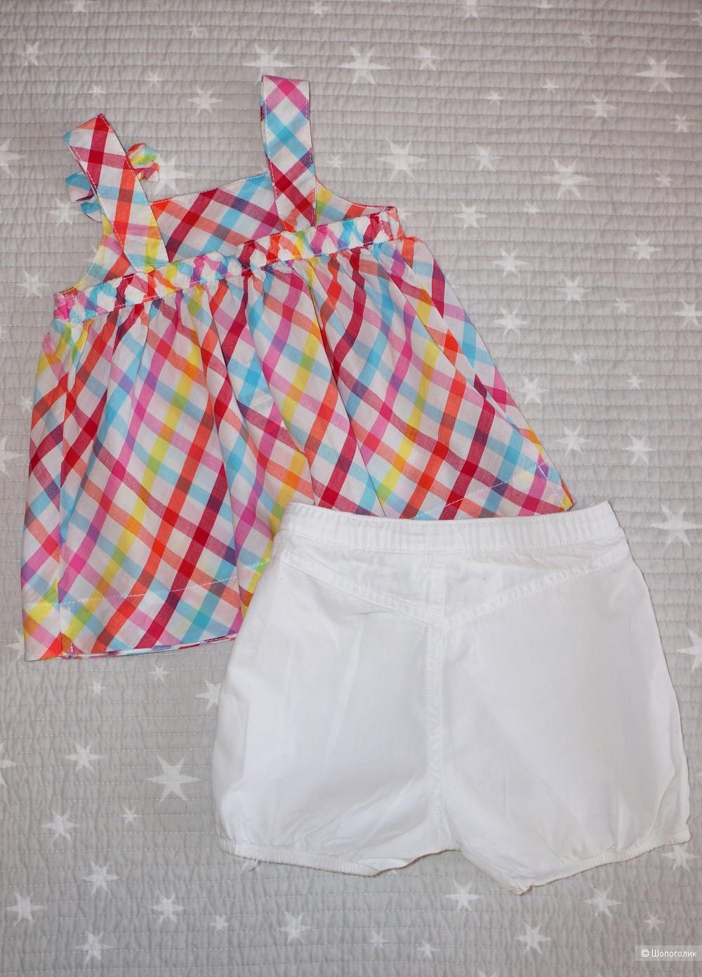 Платье и шорты-буфы H&M, размер 12-18 месяцев