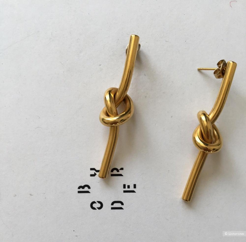 Серьги узелки в стиле Celine, дл. 5 см.