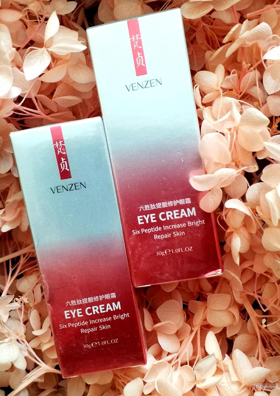 Лифтинг-крем для глаз Venzen от «BIOAQUA» с 6-ю пептидами 30 грамм