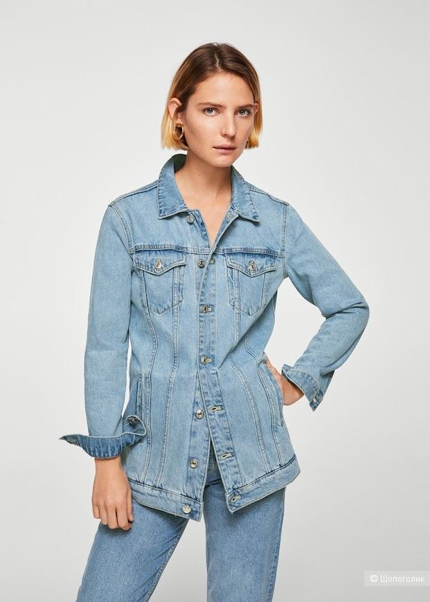 Джинсовая куртка mango 42 p