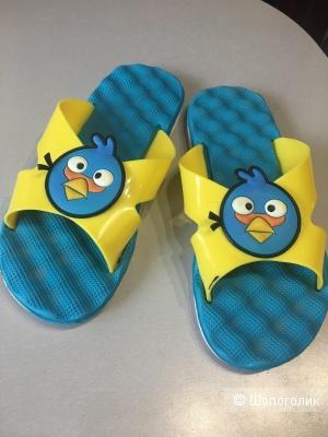 Детские пляжные шлепанцы Энгри Бердс, размер 34