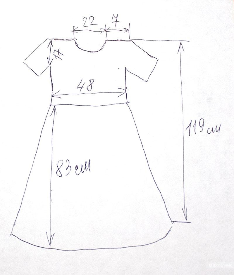 Льняное платье 46 размера