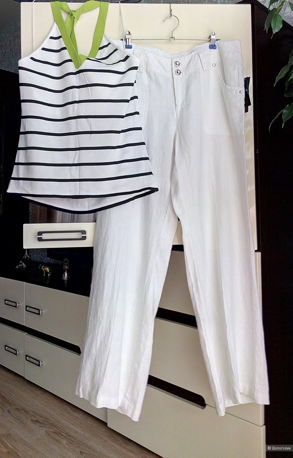 Cэт из топа Ralph Lauren+ брюки INC, размер 48-50
