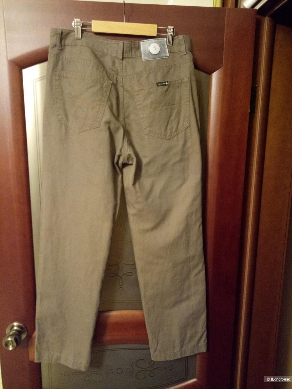 Льняные брюки TRUSSARDI JEANS, размер 48-50 рос.