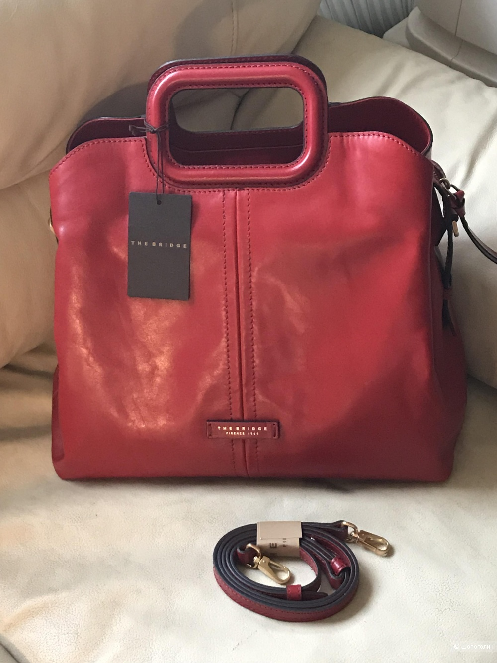 The Bridge Gorgona Handbag red