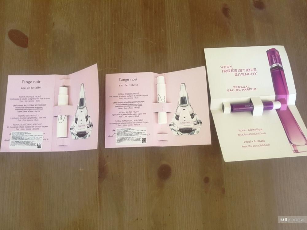 Набор пробников парфюмов Dior, Guerlain, Givenchy