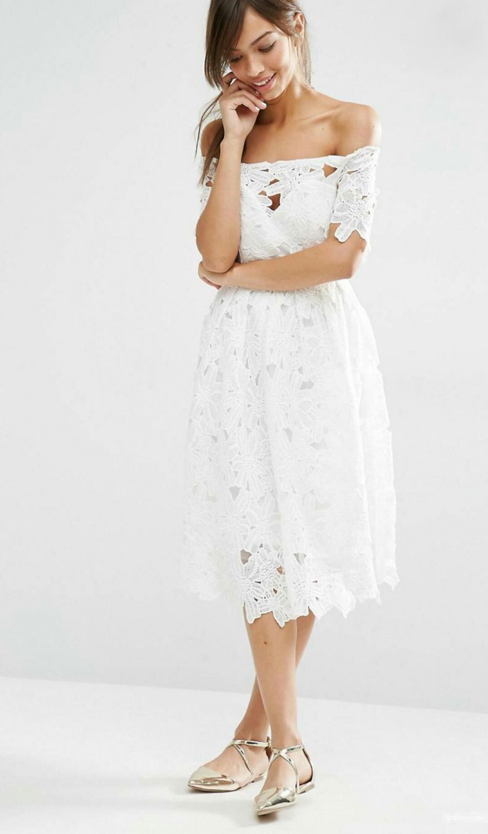 Платье кружевное Boohoo, размер 38