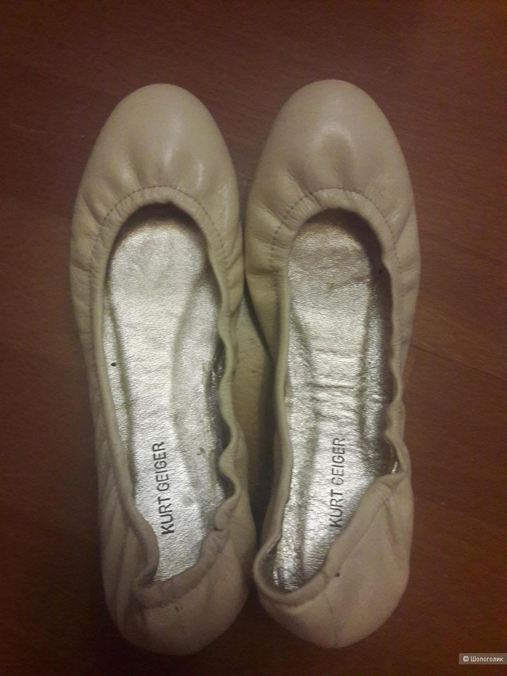 Кожаные балетки Kurt Geiger 37 размера