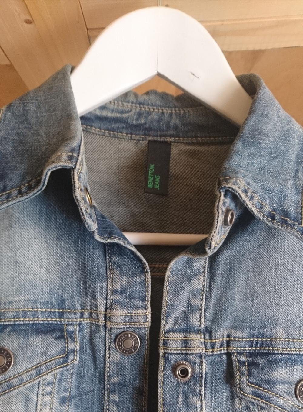 Джинсовая  куртка Beneton, размер xs.