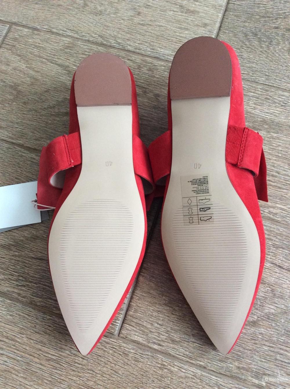 Туфли-балетки H&M PREMIUM QUALITY р.40 (8,5US, 25,5 см)