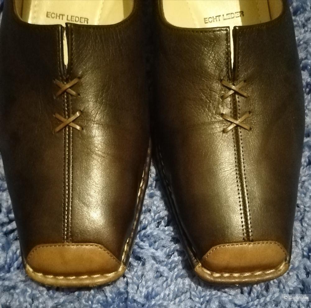 Кожаные туфли ara, размер 6,5(40) полнота Н
