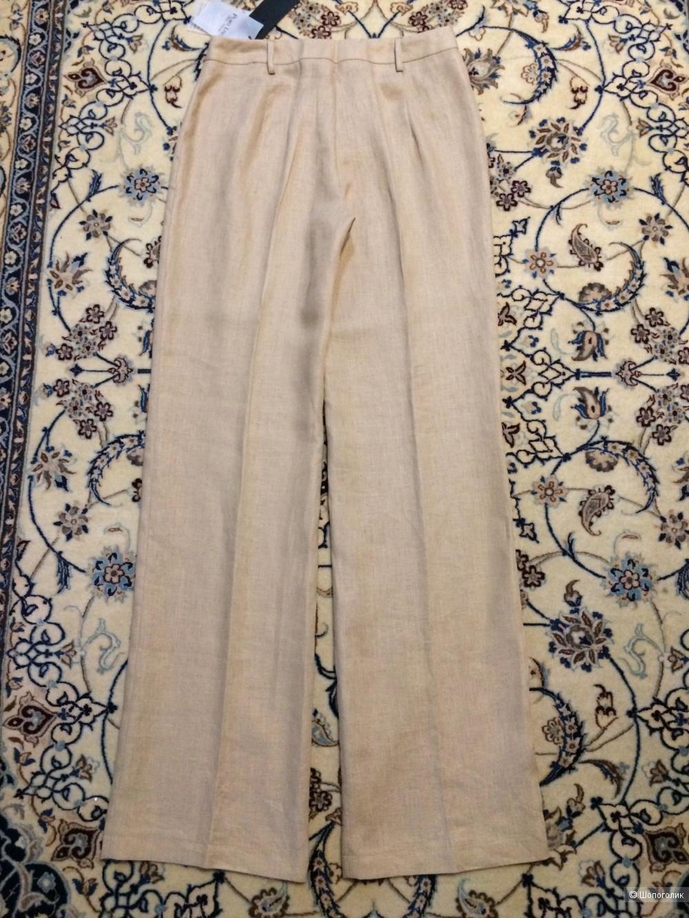 Сет из 3-х вещей:Льняные брюки - палаццо &CO + шляпа ремень 42-44-46