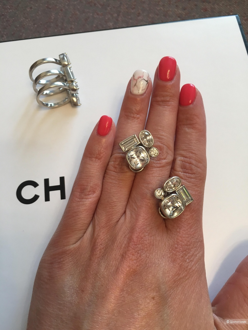 Сет из кольца и сережек, Nicole Miller