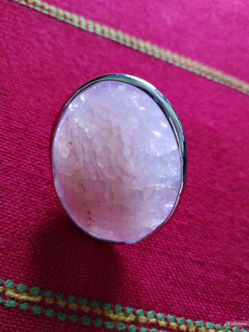 Кольцо с натуральным камнем,  размер универсальный