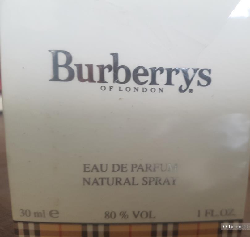 Парфюм Burberry Women ПВ 30/30мл первая версия