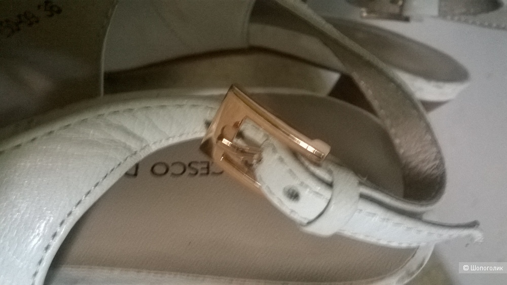 "Туфли босоножки белые ""FRANCESCO DONNI"" р.36"