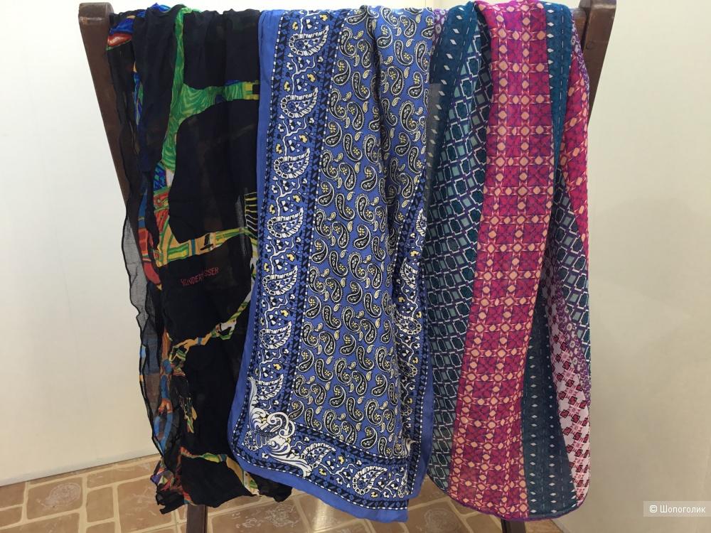 Сет из 3 шелковых шарфов