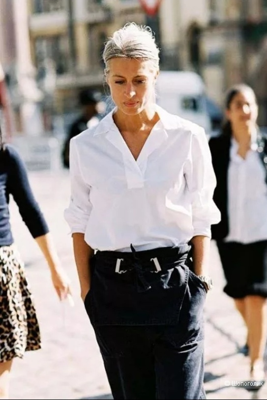 Рубашка белая лен Uniqlo, XS