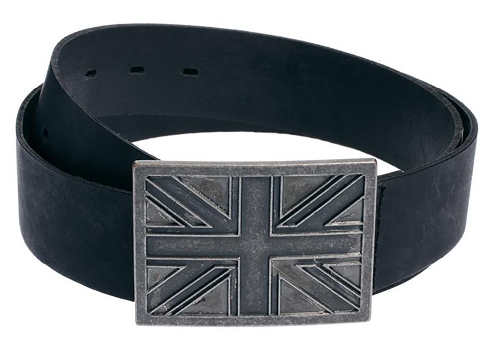 Мужской кожаный ремень с пряжкой Union Jack