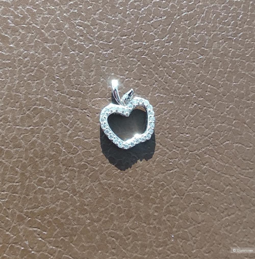 Серебряная подвеска с фианитами, SUNLIGHT