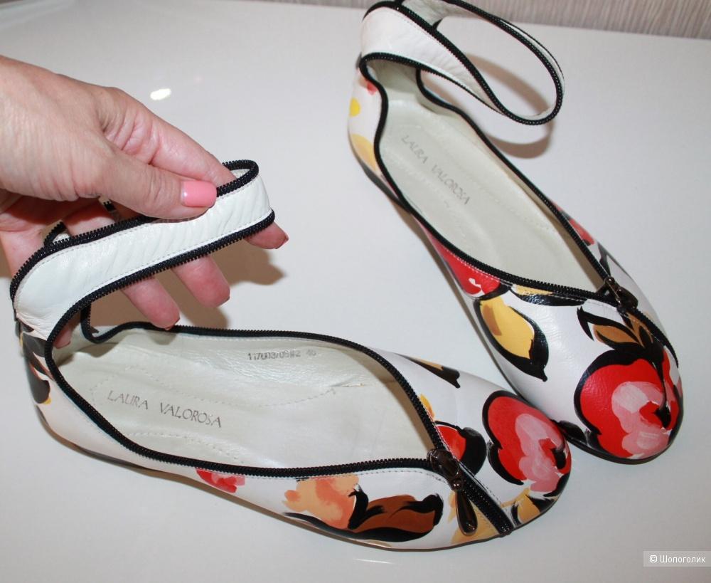 Кожаные туфли  LAURA VALOROSA, размер 40 на 38 - 39