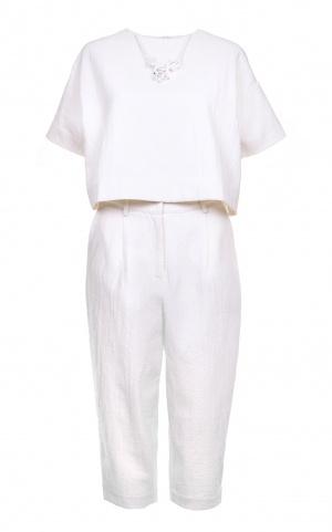 Льняной брючный костюм STYLE TRACK, размер S