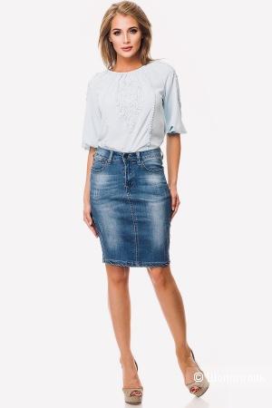 Джинсовая юбка Nice Denim, размер 46-48