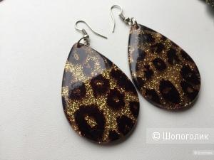 Чешские Серьги с леопардовыми мотивами