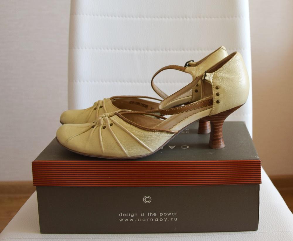Туфли бежевые CARNABY р.37 по стельке 24,5см