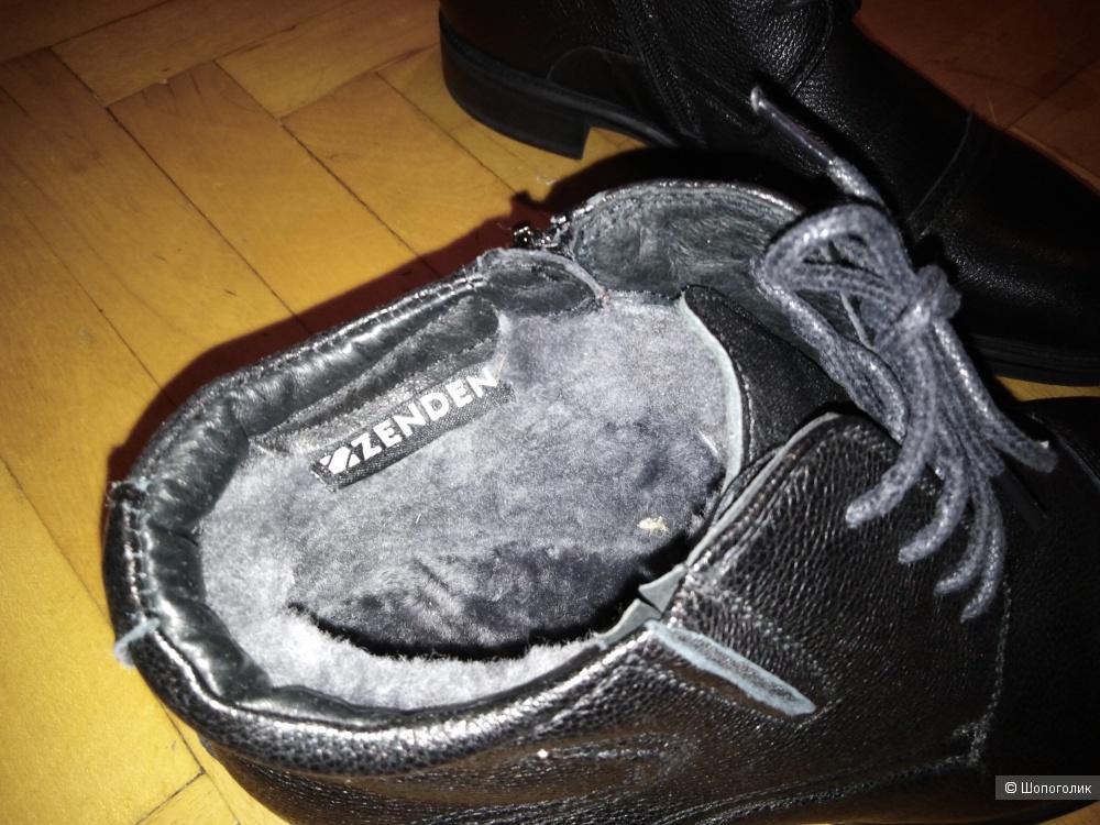 Мужские зимние ботинки фирмы Zenden 40 размер
